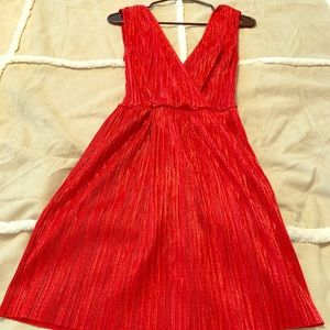 Urban Outfitters red shimmer dress